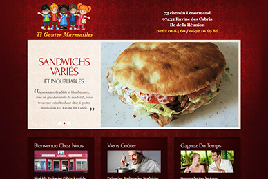 miniature webdesign de snack
